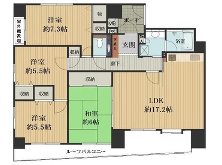 3方角部屋♪ファミール夕陽ケ丘学園坂  4LDK、価格5290万円、専有面積92.85㎡、バルコニー面積18.79㎡
