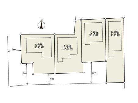 法華寺町(新大宮駅) 3250万円~3750万円 土地41坪~48坪付!全4区画!自由設計可能♪ ご家族構成での間取り提案もいたします♪