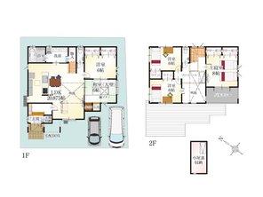 (8号地)、価格3698万円、5LDK、土地面積150.25㎡、建物面積129.17㎡