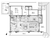 クラウンヒルズ箕面 1LDK、価格9300万円、専有面積166.75㎡、バルコニー面積35.88㎡