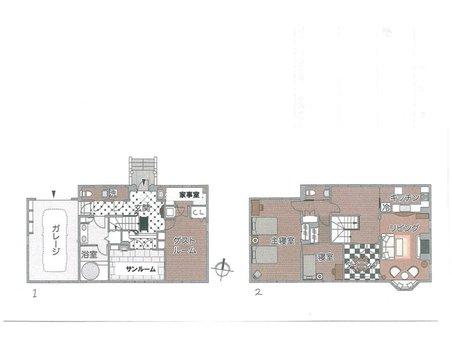 南小松(近江舞子駅) 150万円 土地価格150万円、土地面積300㎡建物プラン例(4号地)建物価格2200万円、建物面積120㎡