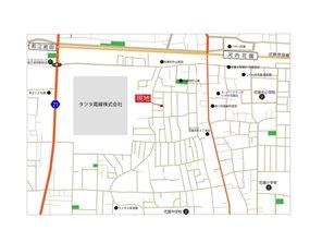 【橋本不動産】 東大阪市花園西町1丁目 ~スタイリッシュな3階建 (2区画)~ 【一戸建て】 現地案内図