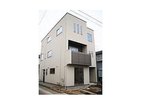 建物プラン例、土地価格500万円、土地面積60.06㎡、建物価格1700万円、建物面積100㎡推奨プラン:3階建