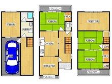 緑町(香里園駅) 1380万円 1380万円、6DK、土地面積68.42㎡、建物面積115.09㎡