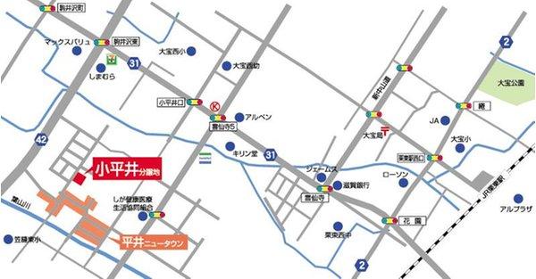 栗東市 小平井3丁目ニュータウン 【一戸建て】 現地案内図