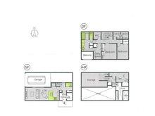 土地価格200万円、土地面積210㎡推奨プラン:ビルトイン・ガレージハウス