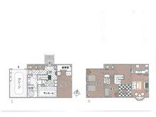 土地価格100万円、土地面積149.4㎡間取り:推奨プラン(66号地)ビルトイン車庫