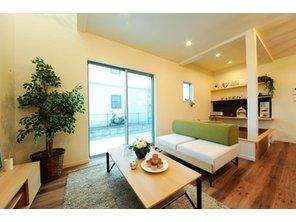 岸和田市額町 全10区画 エスクリエイトで一番人気のセミオーダー住宅「IE LAB」シリーズ。お客様の声から生まれた、家具付きのラインナップです。(建物プラン例/建物価格1540万円、建物面積98.12m2)