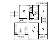嵐山ロイアルハイツ5号棟 3LDK、価格2480万円、専有面積85.7㎡、バルコニー面積12.42㎡