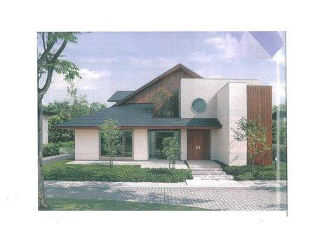 土地価格250万円、土地面積234.8㎡建物プラン例(2号地)建物価格2000万円、建物面積120㎡