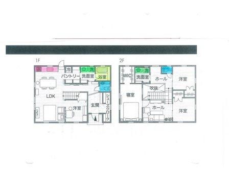建物プラン例、土地価格150万円、土地面積300㎡、建物価格2000万円、建物面積120㎡推奨プラン