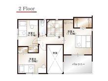 ワウハウス 今在家Ⅳ モデルハウス 【一戸建て】 ■7号地モデルハウス 2階間取り