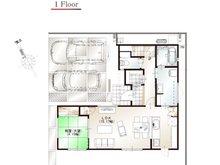 ワウハウス 今在家Ⅳ モデルハウス 【一戸建て】 ■8号地モデルハウス 1階間取り