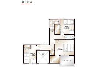 ワウハウス 今在家Ⅳ モデルハウス 【一戸建て】 ■8号地モデルハウス 2階間取り