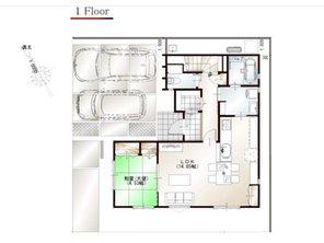 ワウハウス 今在家Ⅳ モデルハウス 【一戸建て】 ■11号地モデルハウス 1階間取り