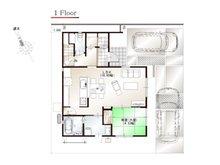 ワウハウス 今在家Ⅳ モデルハウス 【一戸建て】 ■12号地モデルハウス 1階間取り