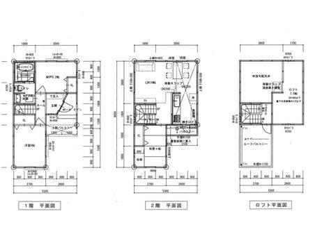 私部7(交野市駅) 600万円 土地価格600万円、土地面積66.21㎡建物プラン例(平面図)