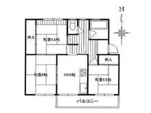 粟生第二住宅16号棟 3DK、価格480万円、専有面積46.47㎡、バルコニー面積5.94㎡