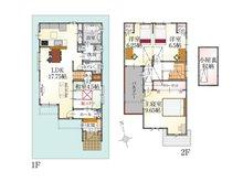 (2号地)、価格3298万円、4LDK、土地面積100.3㎡、建物面積103.06㎡