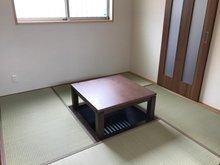 和室の掘りこたつ部分は、畳にすることもできます。お客様の来客時、子どものお昼寝等にもお使いいただけます。(2号地)