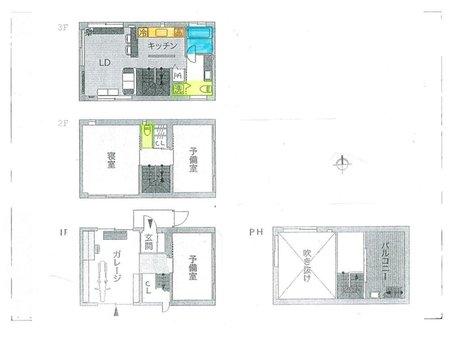 池之宮2(星ケ丘駅) 400万円 推奨プラン:木造3階建