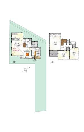 (10号地)、価格4401万7000円、4LDK、土地面積175.75㎡、建物面積130.18㎡