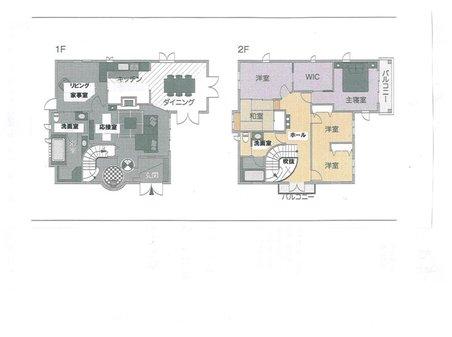 土地価格1480万円、土地面積286.9㎡間取り:推奨プラン:建物面積150㎡