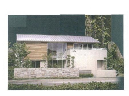 建物プラン例、土地価格700万円、土地面積440㎡、建物価格2200万円、建物面積132.25㎡推奨プランA:ジャパニーズモダン様式