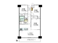 キングマンション歌島橋 3LDK、価格2899万円、専有面積62.69㎡、バルコニー面積8.7㎡