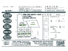招提大谷3(長尾駅) 1480万円 土地価格1480万円、土地面積286.9㎡物件:北街区D