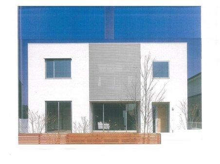 建物プラン例、土地価格100万円、土地面積153.07㎡、建物価格1660万円、建物面積100㎡外観:推奨プラン(35号地)1660万円