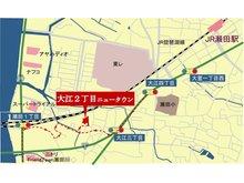 大江2丁目ニュータウン現地マップ