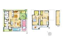 【6号地プラン例】 まるで秘密基地のようなロフト付きのお家♪お子様も喜ぶこと間違いなしです!どの部屋もゆとりある空間に。その他にもフリースペースやスタディースペースも充実しています♪