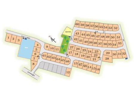南草津かがやきの郷 3期 68区画販売!! 向きや大きさなど様々! 希望のプランにあった土地もご提案いたします。