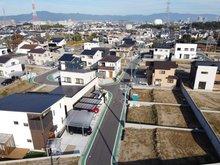 南草津かがやきの郷 3期 上空から見た現地(2020年12月撮影)
