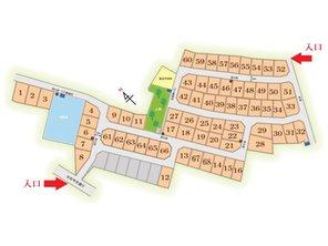 南草津かがやきの郷 3期 現地案内図