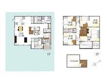 (2-22号地)、価格4088万5000円、5LDK、土地面積184.01㎡、建物面積133.22㎡