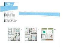 土地価格800万円、土地面積152.11㎡間取り:推奨プラン:施工面積91㎡