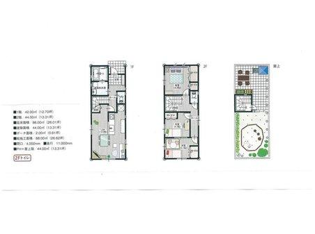 八瀬秋元町(八瀬比叡山口駅) 700万円 建物プラン例(B号地)建物価格1650万円、施工面積99㎡