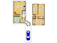岸和田3(住道駅) 730万円 730万円、4LDK、土地面積82.32㎡、建物面積75.25㎡各居室がゆったりした2階建ての4LDKです♪