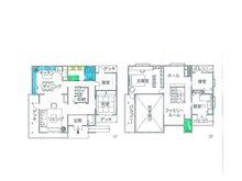 建物プラン例(1号地)建物価格2750万円、建物面積165.3㎡
