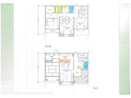 尊延寺5(藤阪駅) 830万円 土地価格830万円、土地面積274㎡建物プラン例(1号地)建物価格2000万円、建物面積120㎡