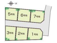 【全体区画図】 南海本線「羽衣」駅徒歩11分の好立地です!日当たり風通しともに良好な現地となります。ぜひ、現地に足をお運びください!陽当たり・環境なども合わせてご案内させて頂きます!