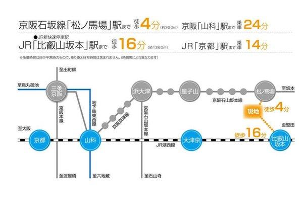 大津市 坂本2丁目ニュータウン 【一戸建て】 路線図