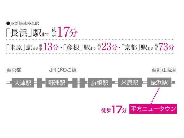 【橋本不動産】長浜市 平方ニュータウン ◆販売4戸◆ 【一戸建て】 路線図