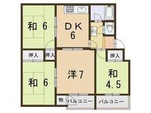 東垂水住宅 4DK、価格380万円、専有面積61.48㎡
