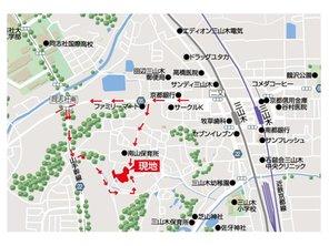 京田辺市 三山木 同志社南分譲地  【一戸建て】 現地案内図