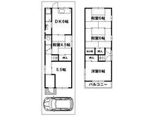 三箇4(野崎駅) 800万円 800万円、5DK、土地面積70.34㎡、建物面積76.17㎡