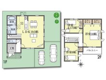 (Ⅰ期 15号地)、価格2399万9000円、3LDK、土地面積124.17㎡、建物面積96.87㎡