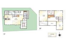 (Ⅰ期 7号地)、価格3998万円、4LDK、土地面積166.36㎡、建物面積124.21㎡